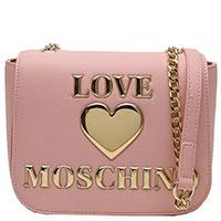 Женская сумка Love Moschino розового цвета, фото