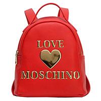 Рюкзак Love Moschino красный с логотипом, фото
