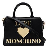 Женская сумка Love Moschino с золотистым серцем, фото