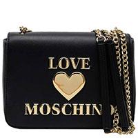 Черная сумка Love Moschino через плечо на цепочке, фото