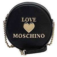 Черная круглая сумка Love Moschino на цепочке, фото