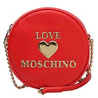 Круглая сумка Love Moschino красного цвета, фото