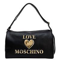 Черная сумка Love Moschino с золотой фурнитурой, фото
