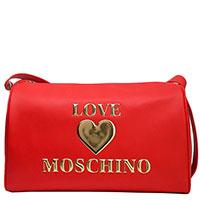 Красная сумка Love Moschino с золотистым сердцем, фото