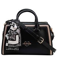 Женская двухцветная сумка Love Moschino с платком, фото