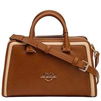 Коричневая женская сумка Love Moschino с логотипом, фото