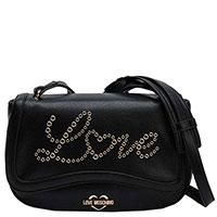 Черная сумка Love Moschino со съемным ремнем, фото