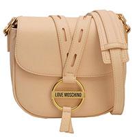 Персиковая сумка  Love Moschino с длинным ремнем, фото
