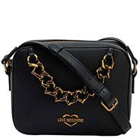 Женская сумка Love Moschino с цепью в форме сердец, фото