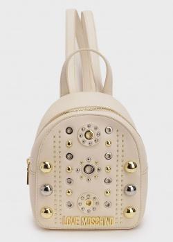 Маленький рюкзак Love Moschino с декором-заклепками, фото