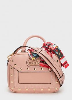 Пудровая сумка Love Moschino через плечо, фото
