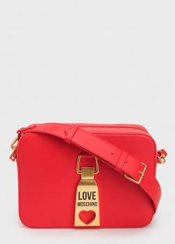 Красная сумка Love Moschino прямоугольной формы, фото