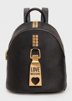 Черный рюкзак Love Moschino с объемным декором, фото