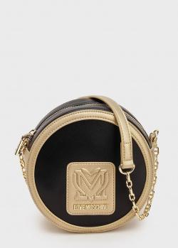 Круглая сумка Love Moschino на ручке-цепочке, фото