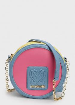 Круглая сумка Love Moschino с брендовой нашивкой, фото