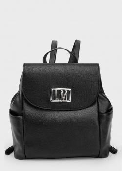 Черный рюкзак Love Moschino с фирменным декором, фото