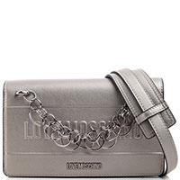 Сумка кросс-боди Love Moschino серого цвета, фото