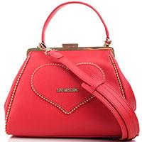 Женская деловая сумка Love Moschino с ремнем, фото
