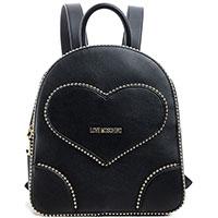 Черный рюкзак Love Moschino с логотипом, фото