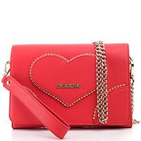 Красная сумка кросс-боди Love Moschino с брендовой отделкой, фото