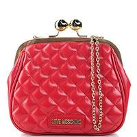 Сумка кросс-боди Love Moschino красного цвета, фото