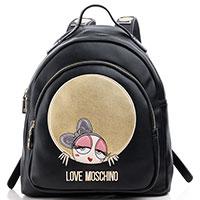 Рюкзак Love Moschino черного цвета с принтом, фото