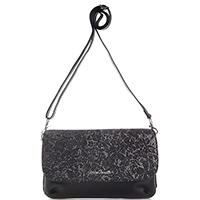 Маленькая сумка Gilda Tonelli из черной гладкой кожи, фото