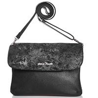 Черная сумка Gilda Tonelli прямоугольной формы, фото