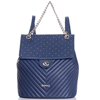 Стеганый рюкзак Marina Creazioni синего цвета, фото