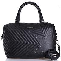Черная сумка Marina Creazioni с декоративной стежкой, фото
