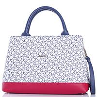 Белая сумка Marina Creazioni с декоративной стежкой, фото