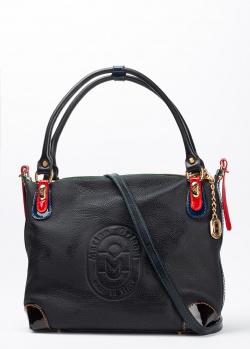 Черная сумка Marino Orlandi из фактурной кожи, фото