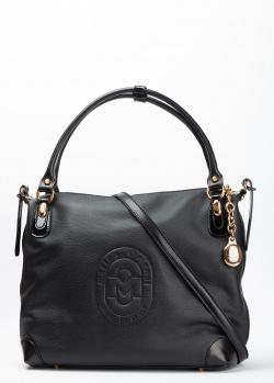 Черная сумка-тоут Marino Orlandi с логотипом, фото