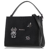 Женская сумка Marina Creazioni с декором черного цвета, фото