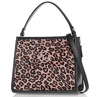 Деловая сумка Marina Creazioni с леопардовым принтом, фото