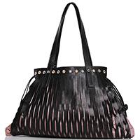 Черная сумка Marina Creazioni с разрезами, фото