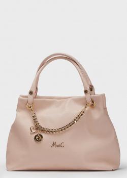 Светло-розовая сумка Marina Creazioni с декором-цепочкой, фото