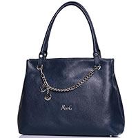 Синяя сумка Marina Creazioni с декором-цепочкой, фото