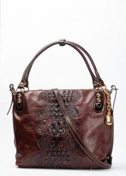 Коричневая сумка Marino Orlandi с золотистой фурнитурой, фото