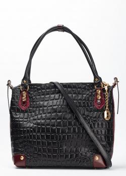 Черная деловая сумка Marino Orlandi с крупным тиснением, фото
