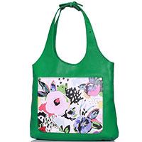 Зеленая сумка Marina Creazioni с цветочным принтом, фото