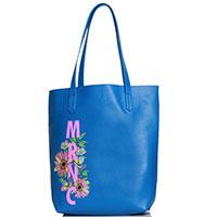 Голубая сумка Marina Creazioni с рисунком в виде цветов, фото