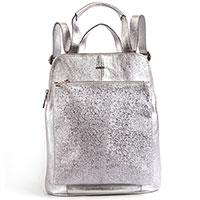 Серебристый рюкзак Nila&Nila из фактурной кожи, фото