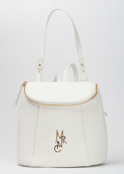 Рюкзак Marina Creazioni из белой зернистой кожи, фото