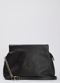 Черная сумка Marina Creazioni из зернистой кожи, фото