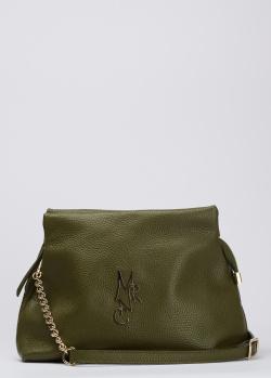 Зеленая сумка Marina Creazioni со съемным ремнем, фото