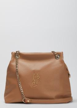 Бежевая сумка Marina Creazioni с ремнем-цепочкой, фото