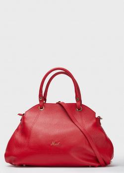 Красная сумка-тоут Marina Creazioni в форме купола, фото
