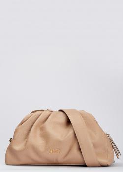 Бежевая сумка Marina Creazioni на широком ремне, фото