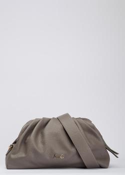 Серая сумка Marina Creazioni с фирменным декором, фото
